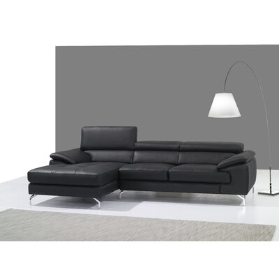 Courtdale Reclining Sectional Upholstery: Black, Orientation: Left Hand Facing