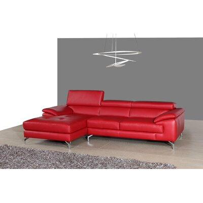 Courtdale Reclining Sectional Upholstery: Red, Orientation: Left Hand Facing