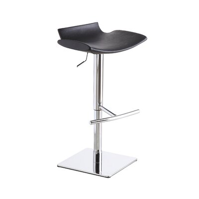 Donora Adjustable Height Swivel Bar Stool Upholstery: Black