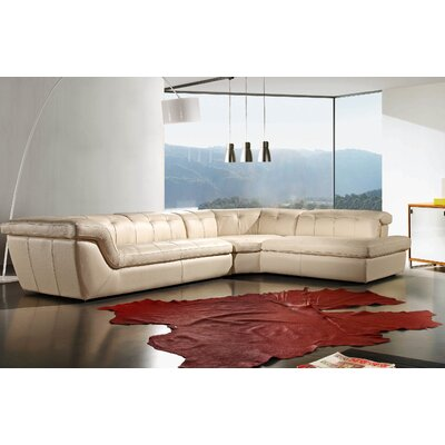Lola Sectional Upholstery: Beige, Orientation: Right Hand Facing