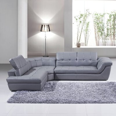 Lola Reclining Sectional Upholstery: Grey, Orientation: Left Hand Facing