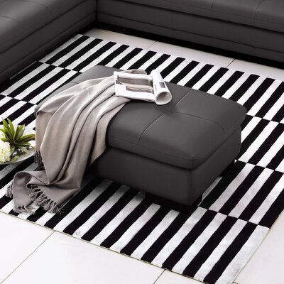 Marceline Leather Ottoman Upholstery: Slate Grey