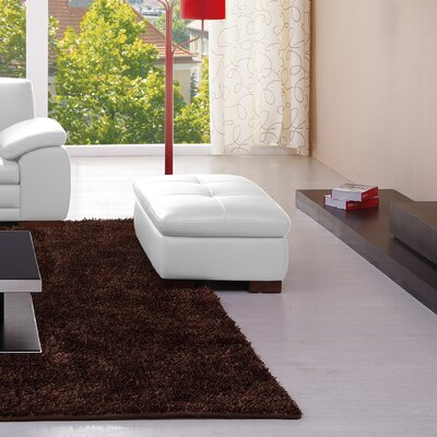 Marceline Leather Ottoman Upholstery: White