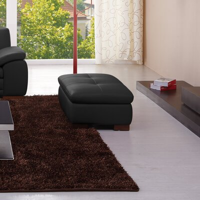 Marceline Leather Ottoman Upholstery: Brown