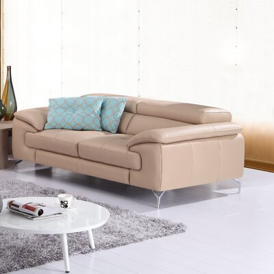 Colwyn Italian Leather Loveseat Upholstery: Peanut
