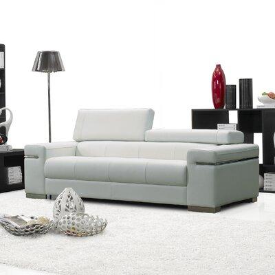 J&M Furniture Soho Leather Sofa - Color: White at Sears.com