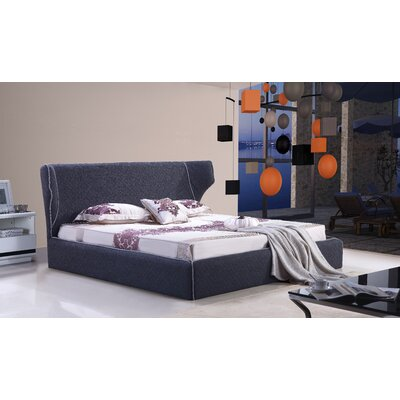 Delapena Upholstered Platform Bed Size: Queen, Color: Grey