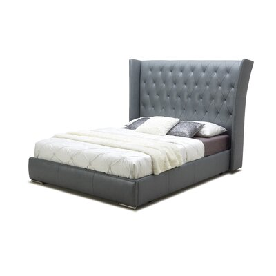 Chrisman Upholstered Platform Bed Upholstery: Dark Grey, Size: Queen