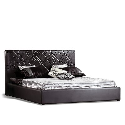 Cogdill Upholstered Platform Bed Size: King, Upholstery: Black