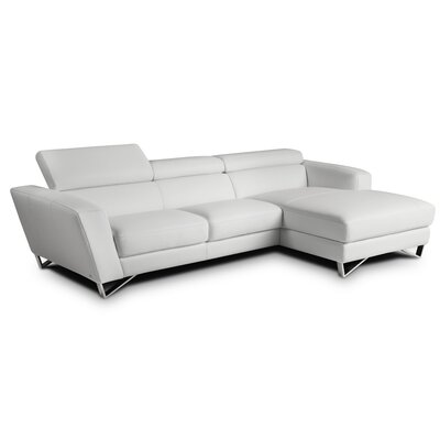 Downingtown Reclining Sectional Upholstery: White, Orientation: Right Hand Facing