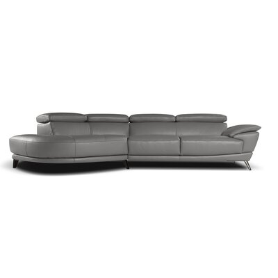 J&M Furniture 18055-RHFC-GR Marisol Sectional Upholstery