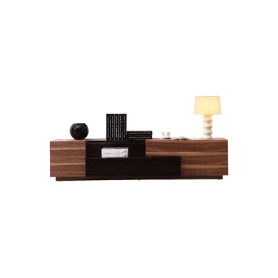 Bellefonte 70 TV Stand Color: Walnut / Black