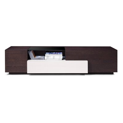 Bellefonte 70 TV Stand Color: Brown Oak / Grey Lacquer