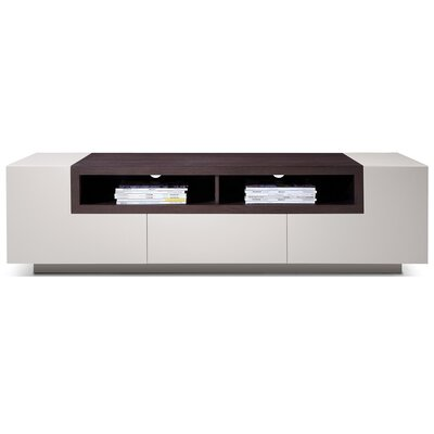 Chapman 65 TV Stand Color: Grey Gloss / Oak