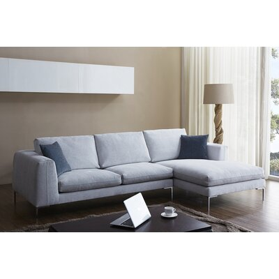 J&M Furniture 18131-RHFC Bianca Fabric Sectional Orientation