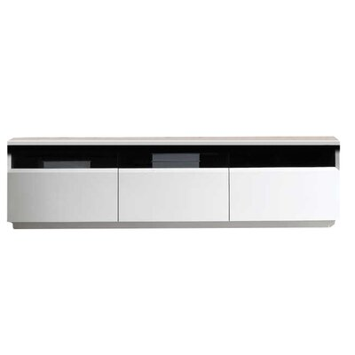 Bellwood 71 TV Stand Color: White