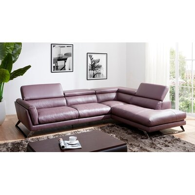 Jonathan Leather Sectional Orientation: Right Hand Facing
