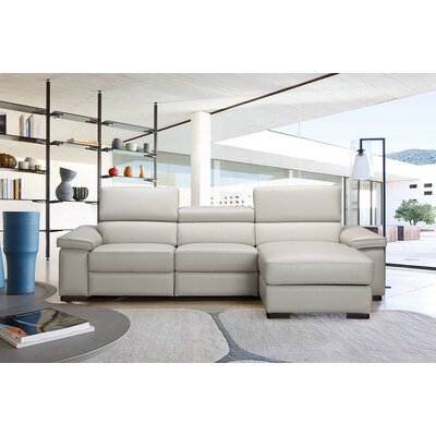 J&M Furniture 18209-RHFC Fabia Premium Leather Sectional Orientation