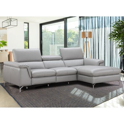 Serena Leather Reclining Sectional Orientation: Right Hand Facing