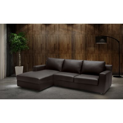 Blandon Leather Sectional Orientation: Left Hand Facing