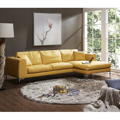 J&M Furniture 18132-RHFC Soleil Premium Leather Sectional Orientation