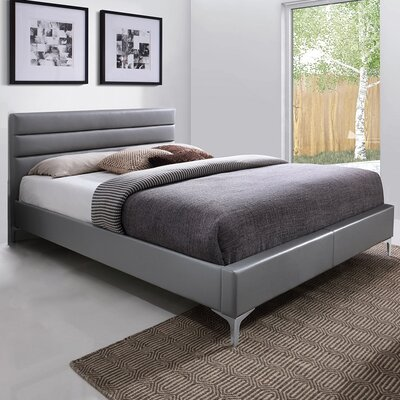 Upholstered Platform Bed Size: Queen