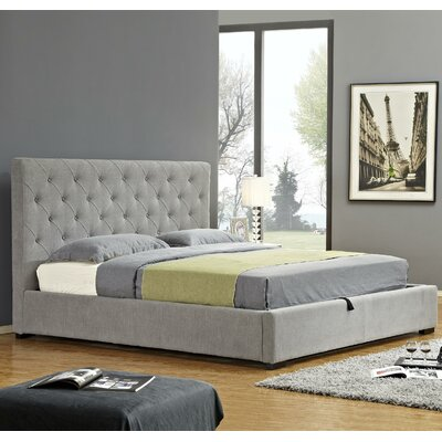 Upholstered Storage Platform Bed Size: King