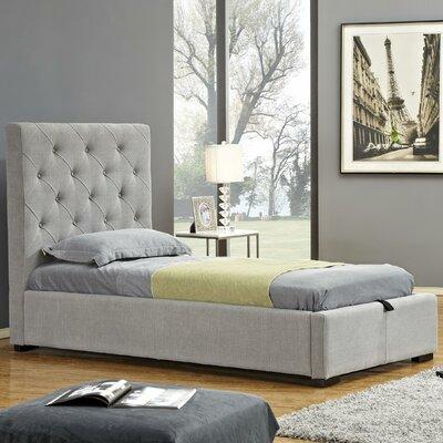 Upholstered Storage Platform Bed Size: Queen