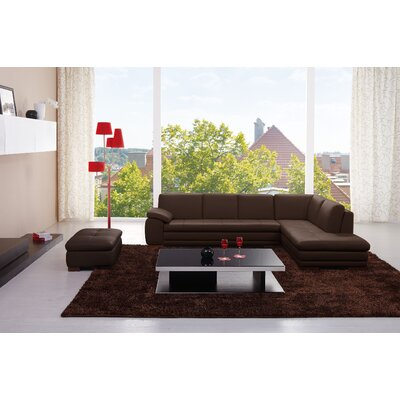 J&M Furniture 178652-RHFC Catania Leather Sectional Orientation