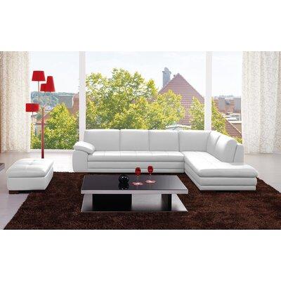 J&M Furniture 177265-RHFC Orlando Leather Sectional Orientation