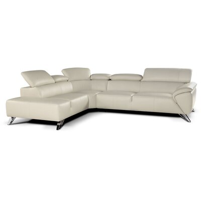 Jessica Sectional Orientation: Left Hand Facing, Upholstery: Gray