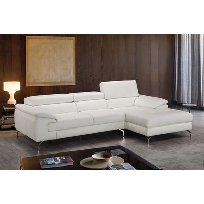 Alice Leather Sectional Orientation: Right Hand Facing