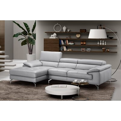 Liam Premium Leather Sectional Orientation: Left Hand Facing