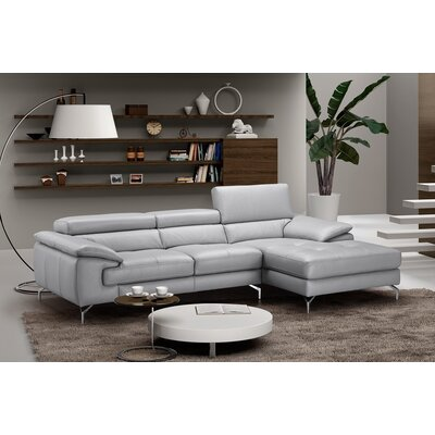 Liam Leather Sectional Orientation: Right Hand Facing
