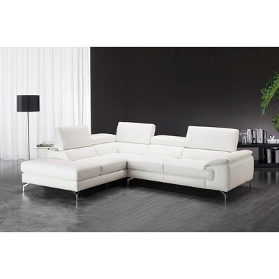 Nila Leather Sectional Orientation: Left Hand Facing