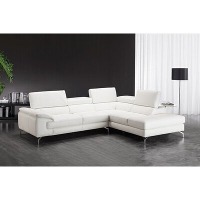 Nila Premium Leather Sectional Orientation: Right Hand Facing