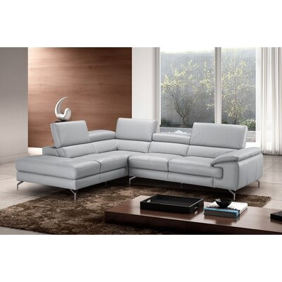 Olivia Leather Sectional Orientation: Left Hand Facing