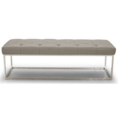 Chelsea Lux Faux Leather Bedroom Bench Upholstery: Gray 18279