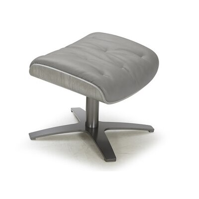 Dakota Leather Ottoman Upholstery: Gray