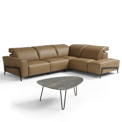 Norwell Reclining Sectional Upholstery: Honey, Orientation: Right Hand Facing