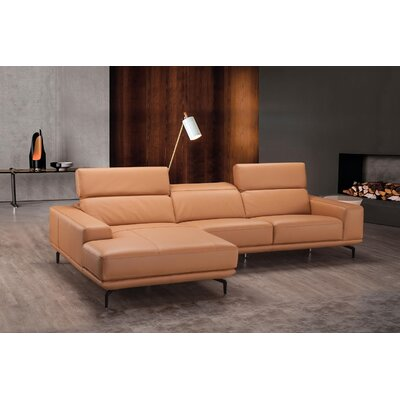 Piland Leather Reversible Sectional Orientation: Left Hand Facing