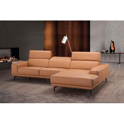Piland Leather Reversible Sectional Orientation: Right Hand Facing