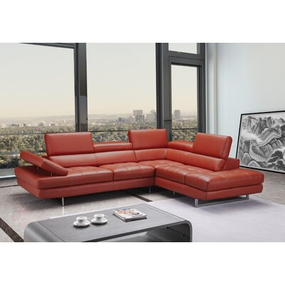 Orren Ellis OREL6267 Carolyn Premium Leather Sectional Orientation