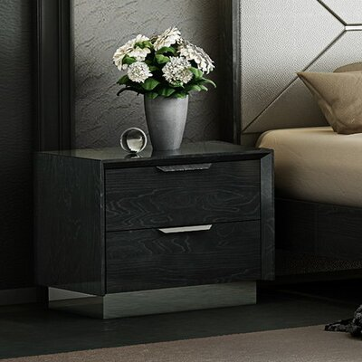 Arushi 2 Drawer Nightstand
