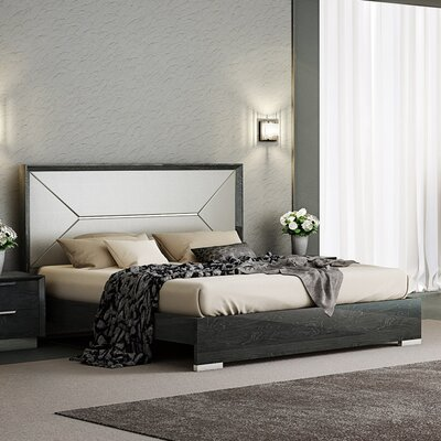 Arushi Upholstered Panel Bed Size: King
