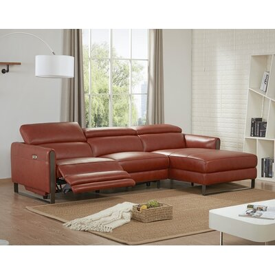 Kress Premium Leather Modular Sectional Orientation: Right Hand Facing