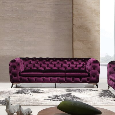 Binstead Chesterfield Sofa Upholstery: Purple