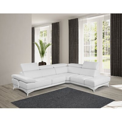 Privett Premium Leather Reversible Sectional Orientation: Right Hand Facing