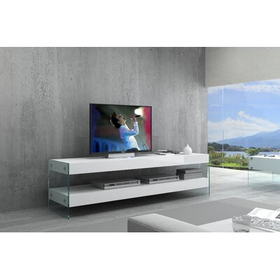 Matewan TV Stand Color: White, Width of TV Stand: 59