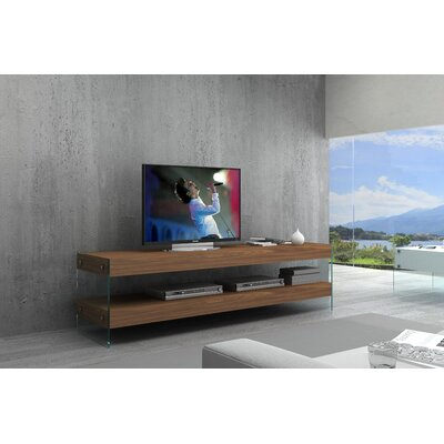 Matewan TV Stand Color: Walnut Veneer, Width of TV Stand: 72.5